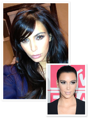 Kim Kardashian Debuts Bangs — Again! : InStyle.com What's Right Now