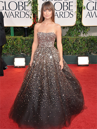 Olivia Wilde - Marchesa - Golden Globes