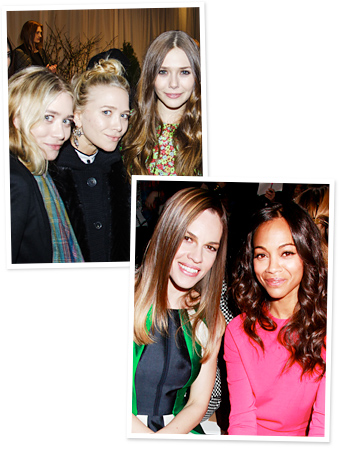 Zoe Saldana, Hilary Swank, Olsens