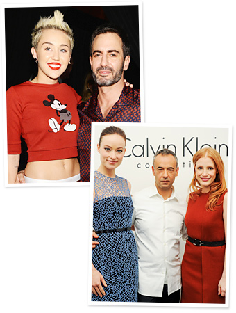 Miley Cyrus, Marc Jacobs, Olivia Wilde, Jessica Chastain