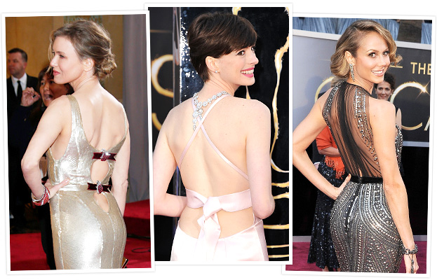 Oscars Backless Dresses