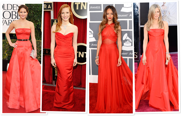 Jennifer Lawrence, Jessica Chastain, Rihanna, Jennifer Aniston