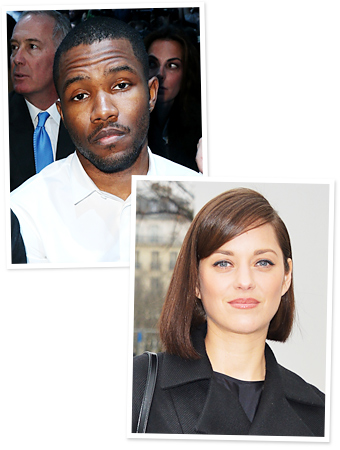 Frank Ocean, Marion Cotillard, Dior front row
