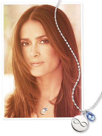 Salma Hayek Avon necklace