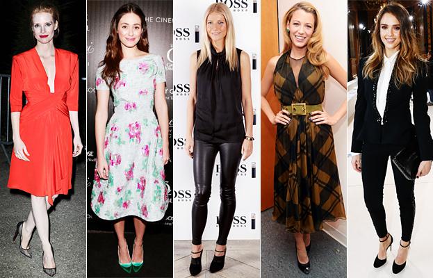 Jessica Chastain, Emmy Rossum, Gwyneth Paltrow, Blake Lively, Jessica Alba