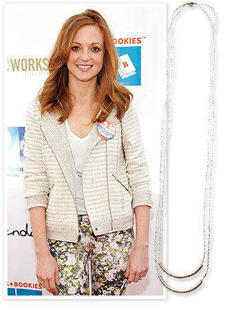 Jayma Mays Raven + Lily necklace