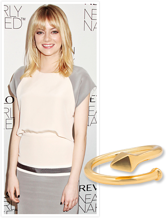 Emma Stone Melinda Maria ring
