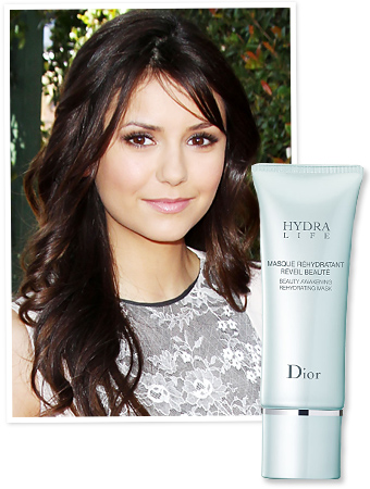NIna Dobrev Dior face mask
