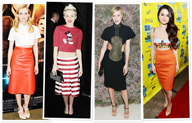 celebrities in midriff tops