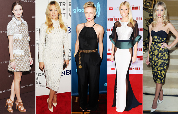 Olivia Palermo, Kate Hudson, Charlize Theron, Gwyneth Paltrow, Rosie Huntington-Whiteley