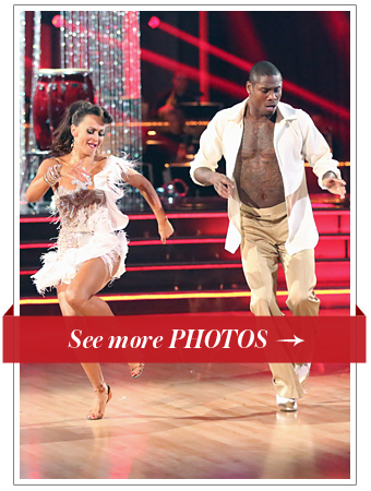 Karina Smirnoff and Jacoby Jones on Dancing with the Stars