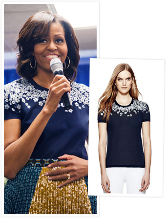 Michelle Obama Tory Burch