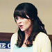 Found It via Possessionista! Zooey Deschanel's Pastel Outfit