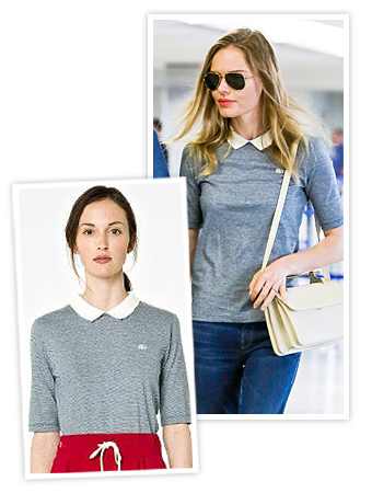 Kate Bosworth Lacoste shirt