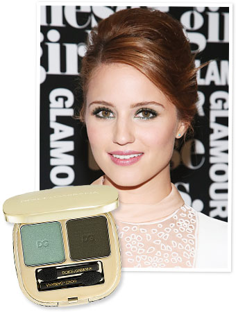 Dianna Agron Blue Eye Shadow