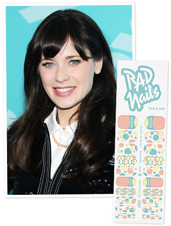 Zooey Deschanel Nails