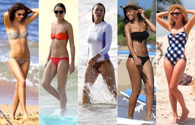 Miranda Kerr, Olivia Palermo, Jessica Biel, Rihanna, Kirsten Dunst