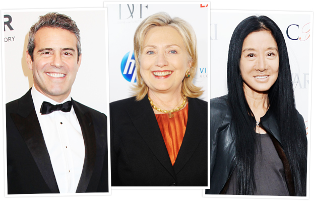 Andy Cohen, Hillary Clinton and Vera Wang for 2013 CFDA Awards