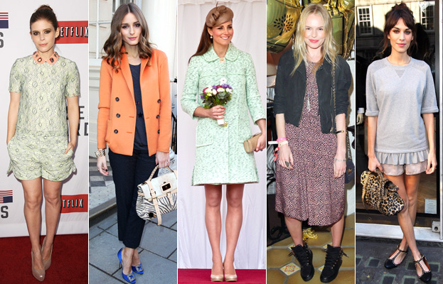 Kate Mara, Olivia Palermo, Kate Middleton, Kate Bosworth and Alexa Chung in Mulberry