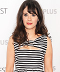 Found It! Zooey Deschanel's Striped Bow Dress