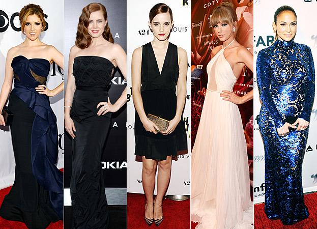 Anna Kendrick, Amy Adams, Emma Watson, Taylor Swift, Jennifer Lopez
