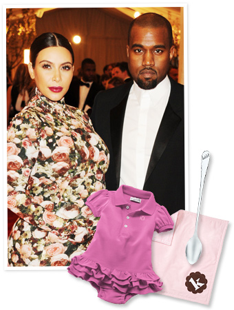 Kim Kardashian and Kanye West and Monogram Gifts