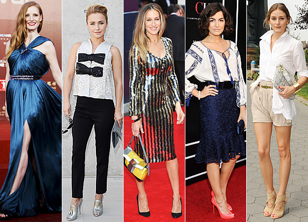 Jessica Chastain, Hayden Panettiere, Sarah Jessica Parker, Camilla Belle and Olivia Palermo