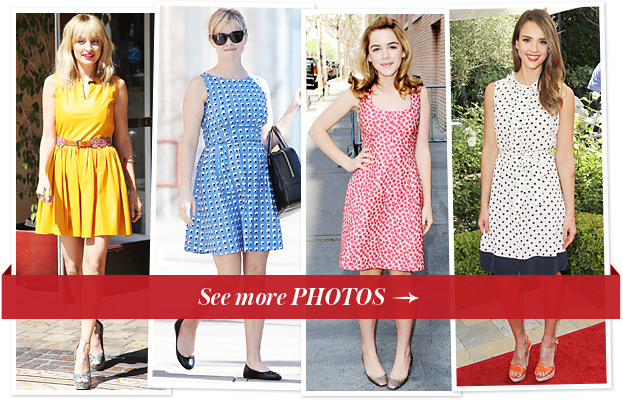 Nicole Richie, Reese Witherspoon, Kiernan Shipka and Jessica Alba in sundresses