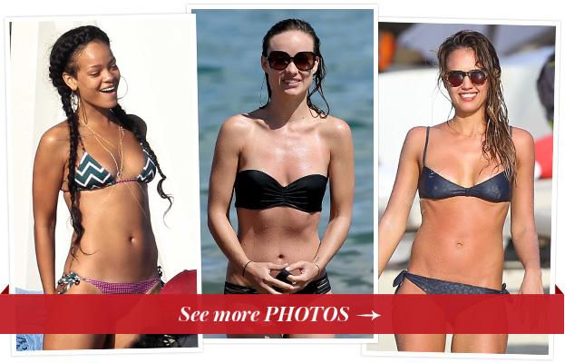 Rihanna, Olivia Wilde, Jessica Alba