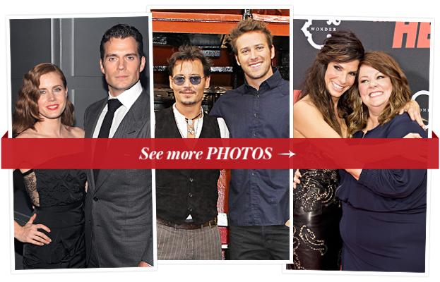 Amy Adams, Henry Cavill, Johnny Depp, Armie Hammer, Sandra Bullock, and Melissa McCarthy