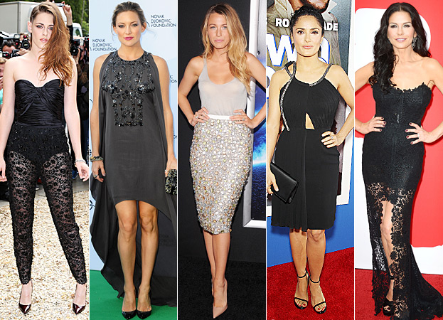 Kristen Stewart, Kate Hudson, Blake Lively, Salma Hayek, Catherine Zeta-Jones