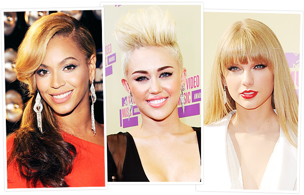 Beyonce, Miley Cyrus, and Taylor Swift