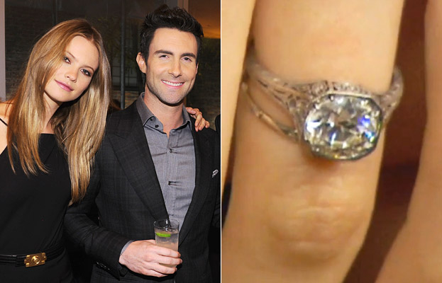 Behati Prinsloo and Adam Levine Engagement Ring
