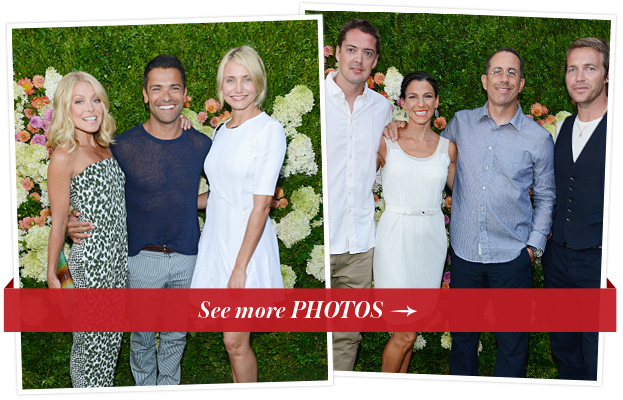 Kelly Ripa, Mark Consuelos, Cameron Diaz, Marcus Wainwright, Jessica and Jerry Seinfeld