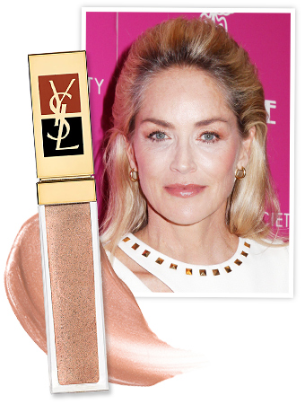 Sharon Stone and YSL Golden Gloss