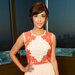 Found it! Hannah Simone's Color-Blocked Lace Dress
