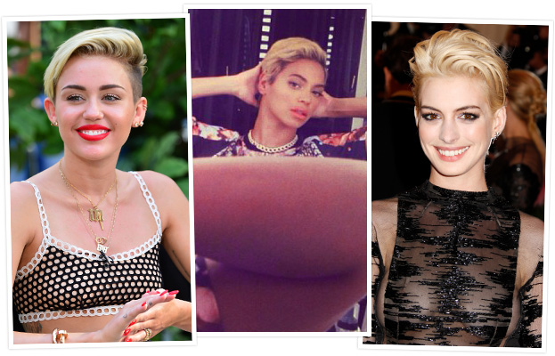 Blonde Pixie - Beyonce - Miley Cyrus - Anne Hathaway