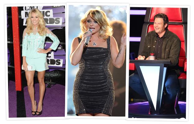 Carrie Underwood, Miranda Lambert, Blake Shelton