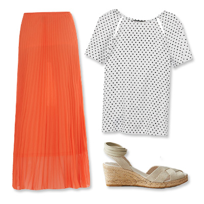 Look of the Day photo | LOOK 2: Cut-Out Tee + Flowy Maxi Skirt