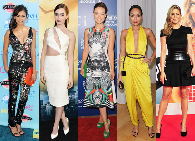 Nina Dobrev, Lily Collins, Olivia Wilde, Ashley Madekwe, and Jennifer Aniston