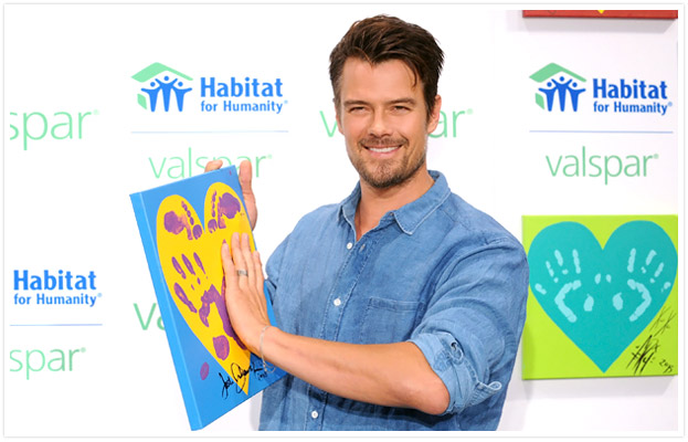 Josh Duhamel and Valspar Hearts and Hands for Habitat