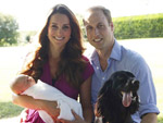 Kate Middleton, Prince William, and Prince George