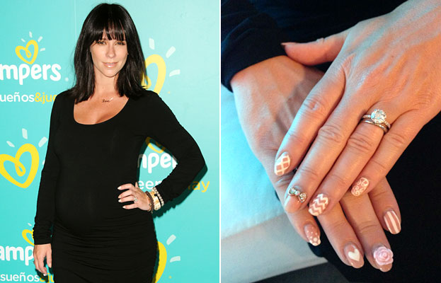 Jennifer Love Hewitt Nail Art - Engagement Ring