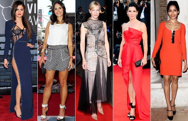 Selena Gomez, Jordana Brewster, Cate Blanchett, Sandra Bullock and Freida Pinto