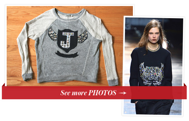DIY Phillip Lim's embellished sweatshirt