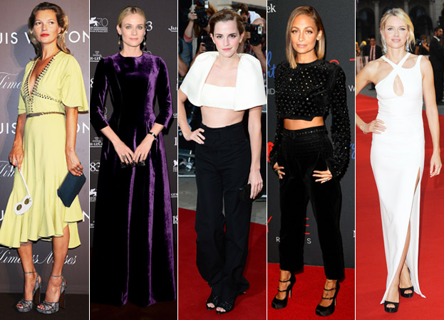 Kate Moss, Diane Kruger, Emma Watson, Nicole Richie and Naomi Watts