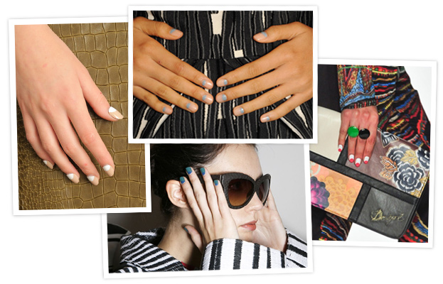 Half-Moon Manicure - New York Fashion Week Nail Art