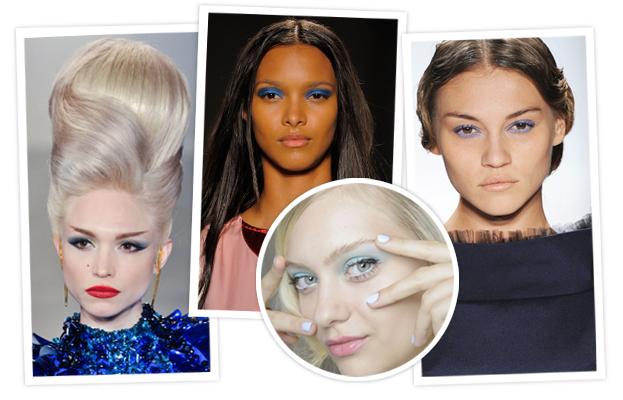 New York Spring Fashion Week 2014 - Blue Eye Shadow - Runway Beauty
