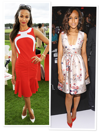 Zoe Saldana and Kerry Washington