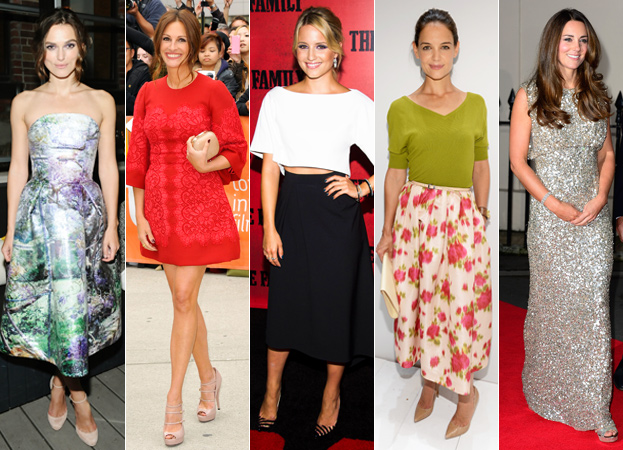 Keira Knightley, Julia Roberts, Dianna Agron, Katie Holmes and Kate Middleton